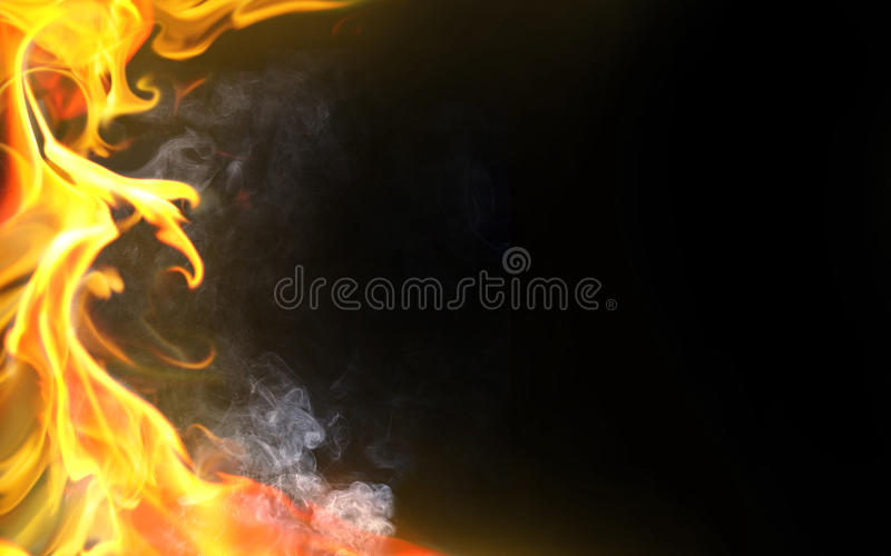 Decorative flame royalty free illustration