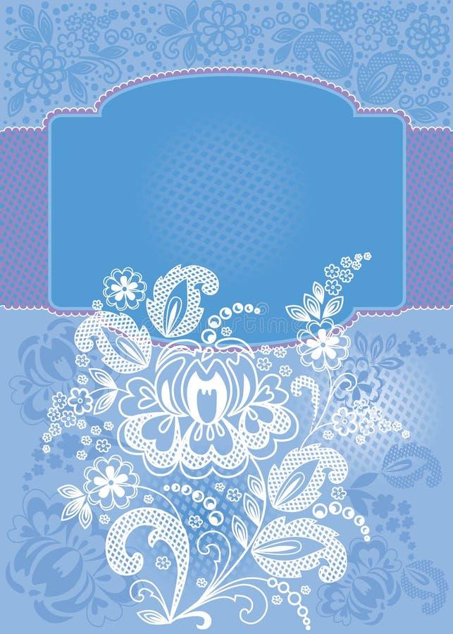 Download Decorative Floral Blue Background Stock Vector - Image: 19929235