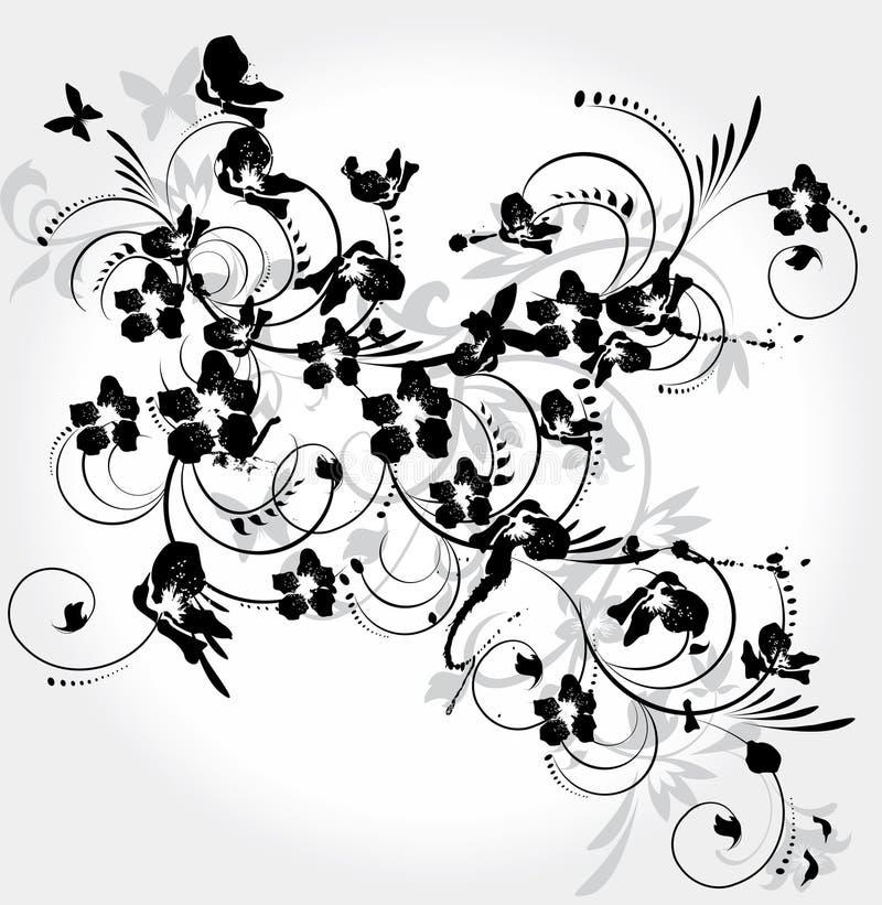 Decorative floral element stock illustration