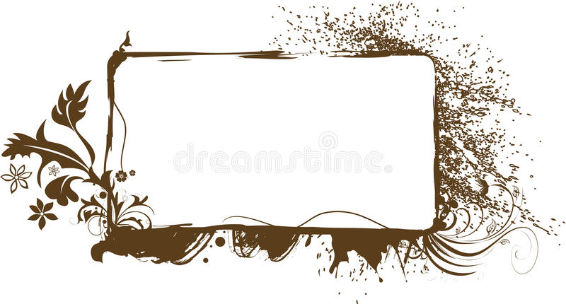 Decorative floral frame royalty free stock photo