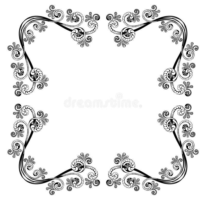Decorative vintage frame vector illustration