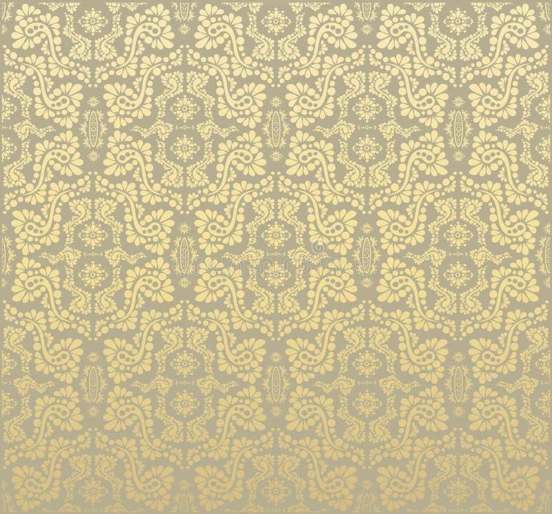 decorative floral ornament seamless иллюстрация вектора
