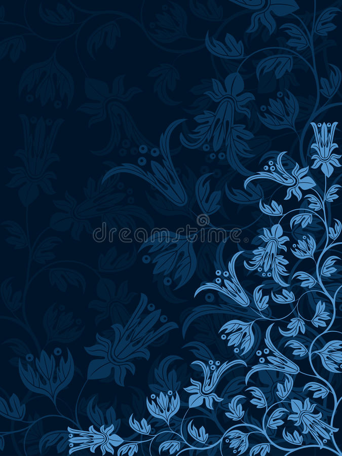 Download Decorative floral pattern stock vector. Image of retro - 24854572