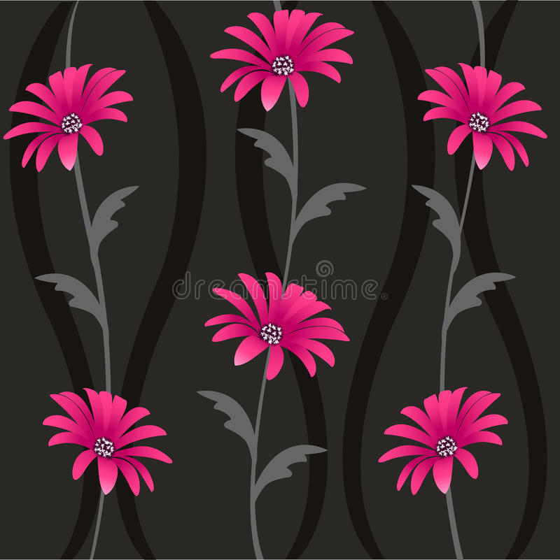 Decorative floral pattern, background royalty free illustration