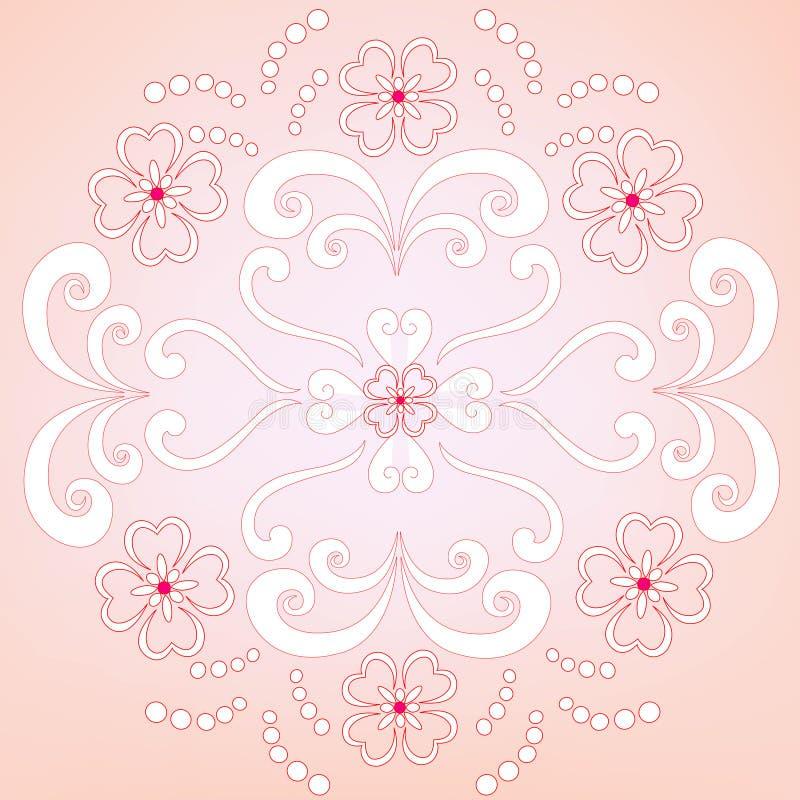 Decorative floral wallpaper stock illustration