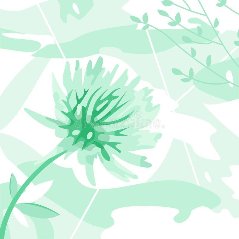 Decorative flower royalty free illustration