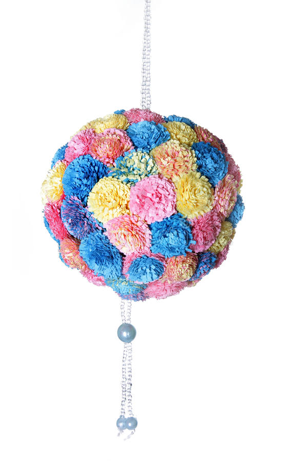 Decorative flower ball, quilling royalty free stock photo