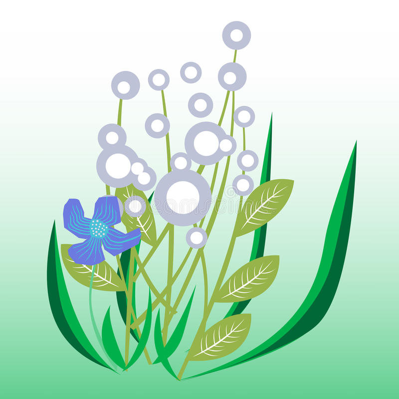 Decorative flowers stock illustration