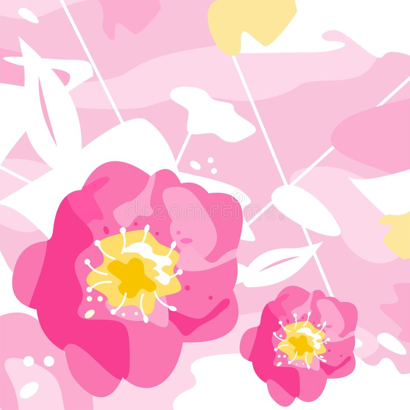Decorative flowers royalty free illustration