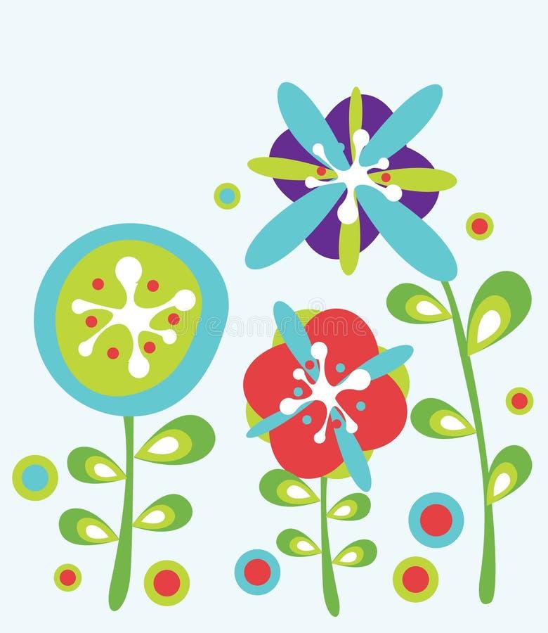 Decorative flowers background royalty free illustration