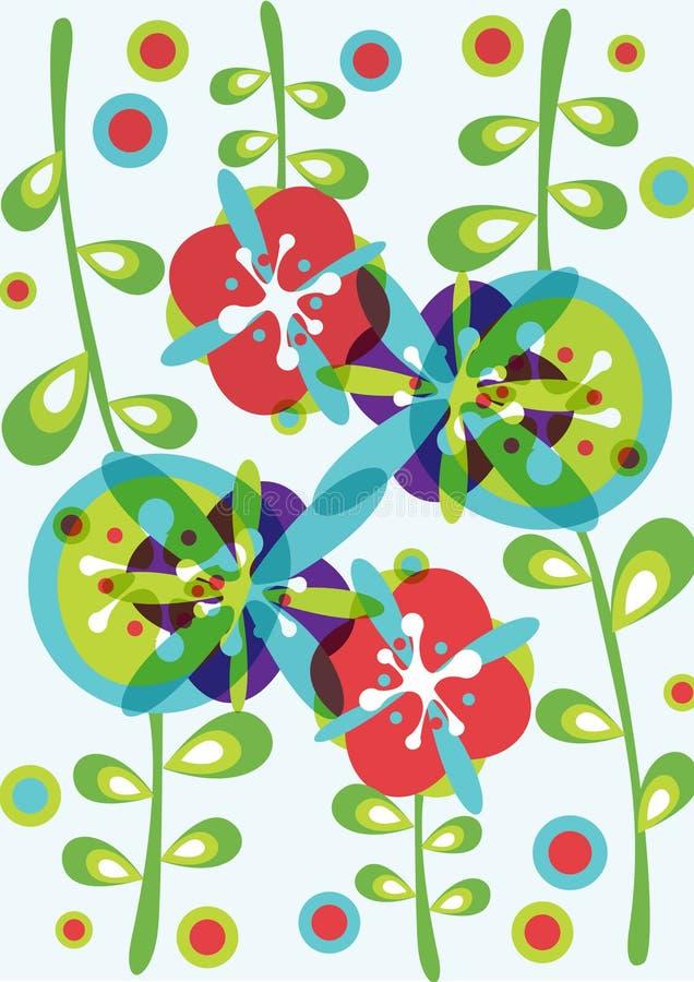 Decorative flowers background pattern stock illustration