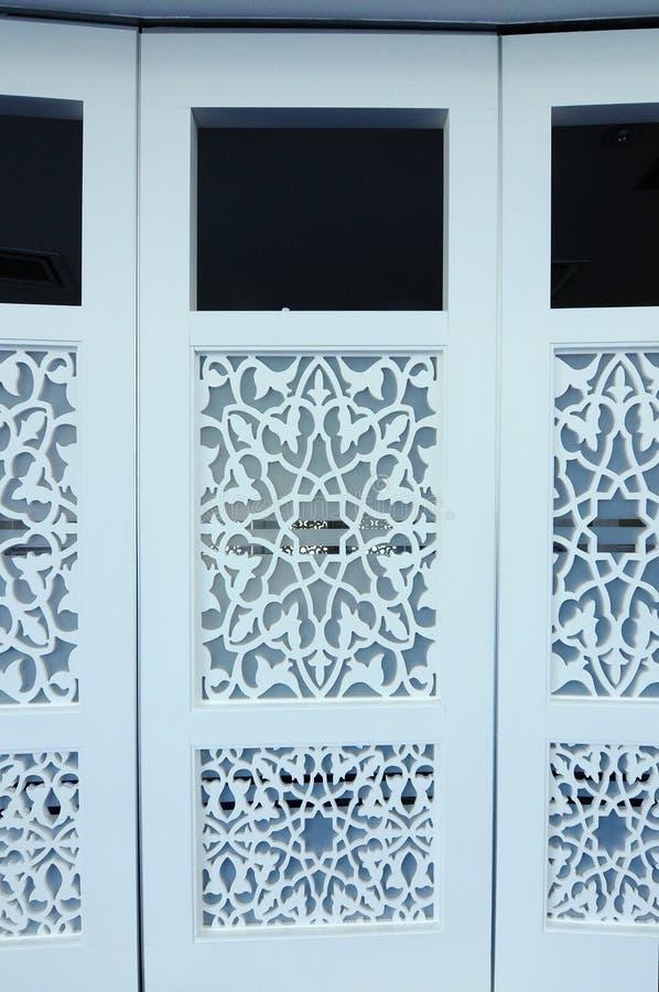 Decorative Folding Door At Puncak Alam Mosque At Selangor, Malaysia ...