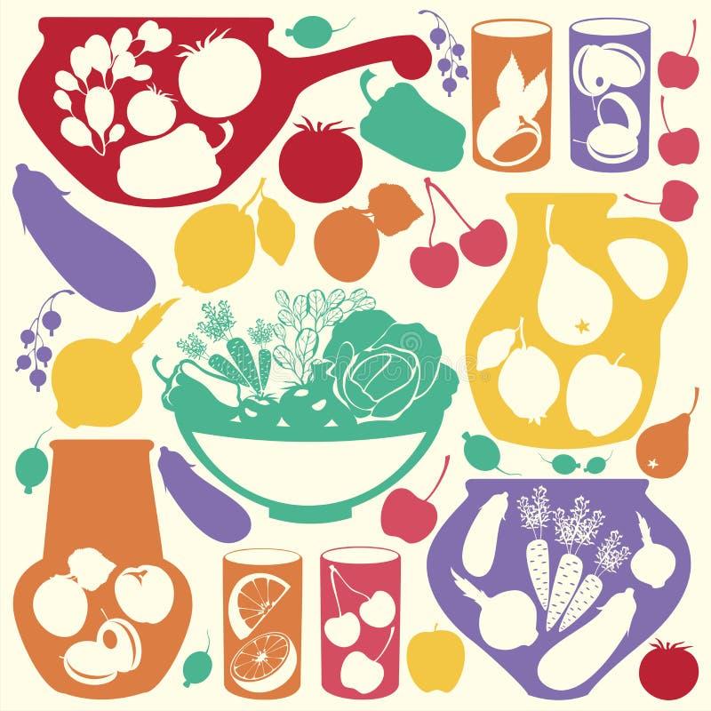 Download Decorative food icons stock illustration. Image of design - 26210176
