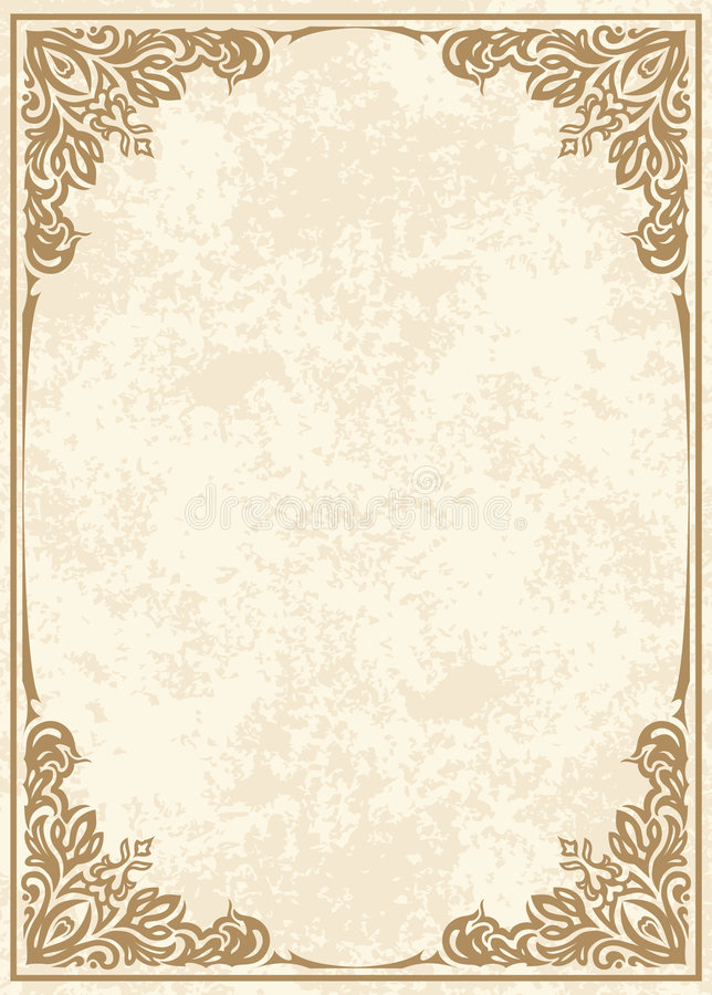 Decorative frame stock illustration