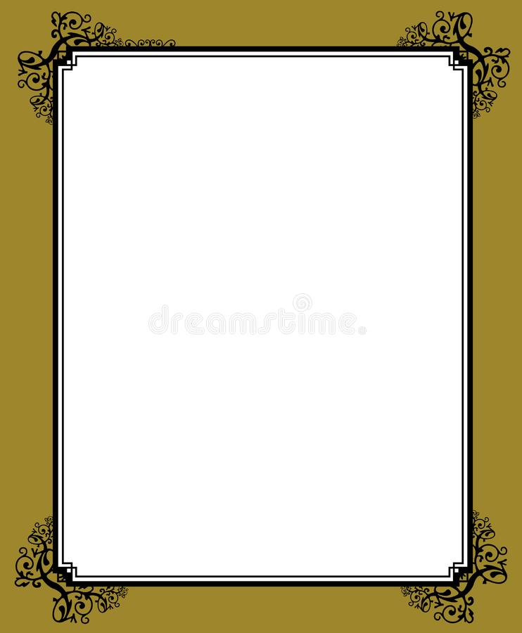 Decorative Frame With Clipping Free Stock Image