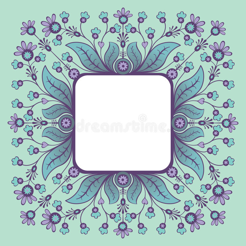 Download Decorative frame stock vector. Image of gift, leaf, ornamental - 66381333