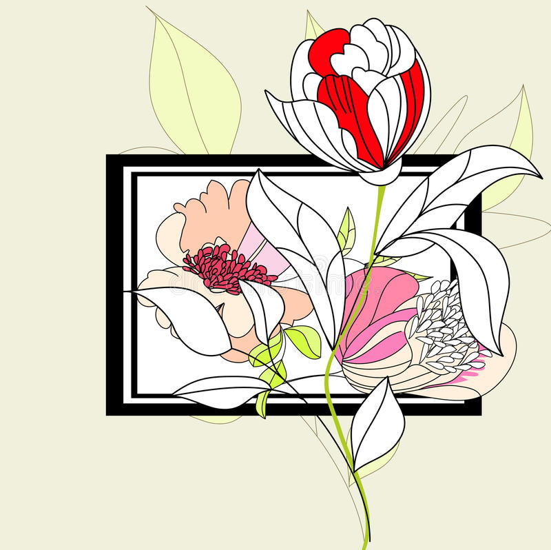Download Decorative Frame With Flowers Stock Vector - Image: 15299567