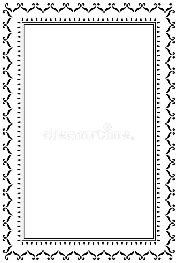 Decorative frame JPG + EPS royalty free illustration