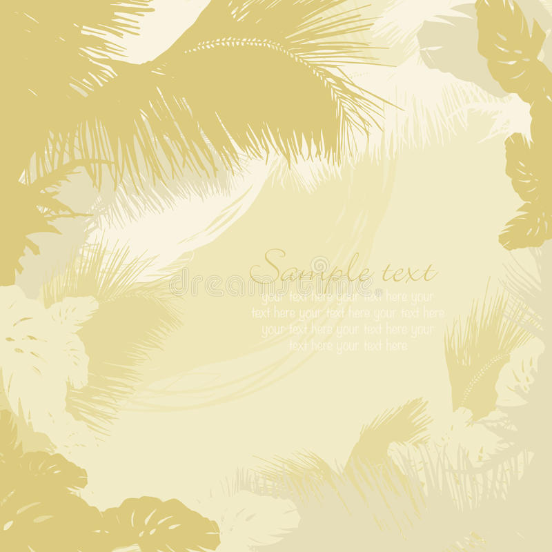 Download Decorative Frame Of Leaves Of Tropical Trees Stock Vector - Illustration of drawing, party: 23822353