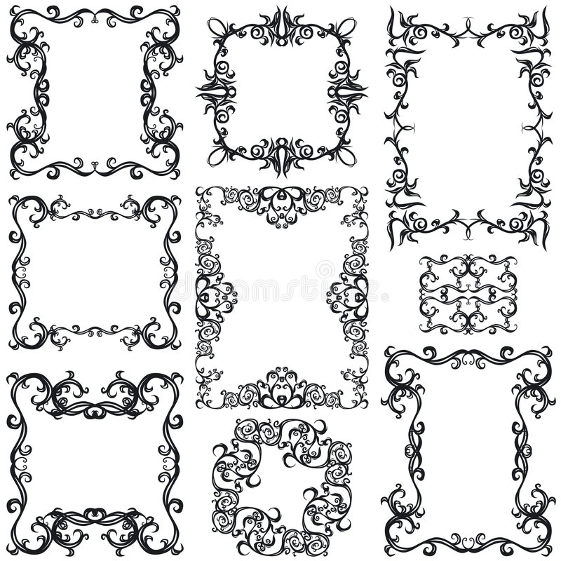Download Decorative Frame Set III B&w Stock Vector - Image: 4224166