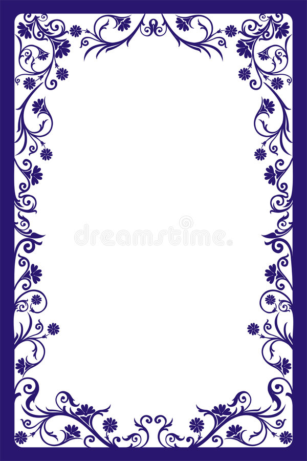Decorative frame, vector stock vector. Illustration of floral - 507230
