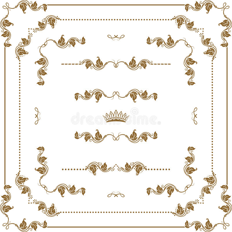 Download Decorative frame stock vector. Image of crown, abstract - 30459935