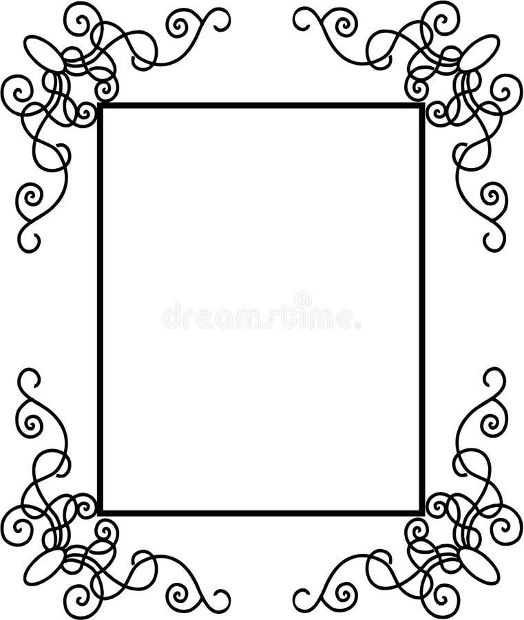 Decorative Frame Vintage. Gothic Frame with decorative corners royalty free illustration