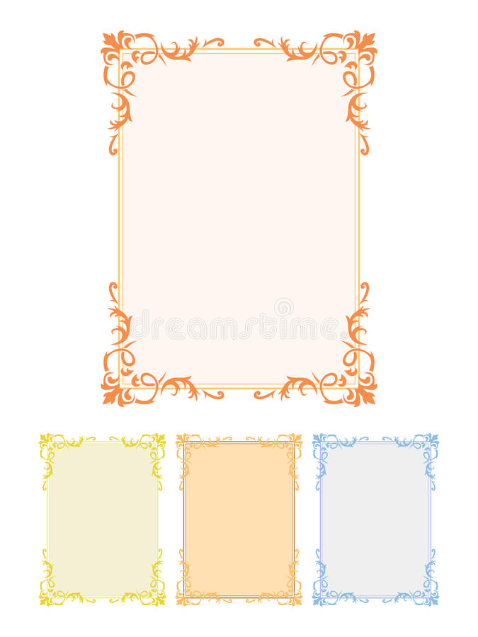 Download Decorative frames stock vector. Image of freehand, creeper - 19463419