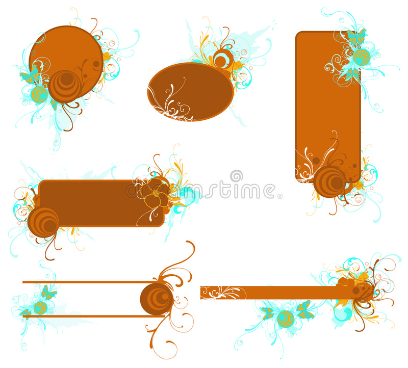 Download Decorative frames stock vector. Image of background, vector - 6501065