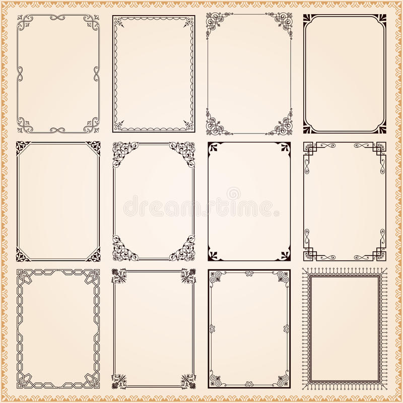 Free Decorative Frames And Borders Royalty Free Stock Image - 39606936