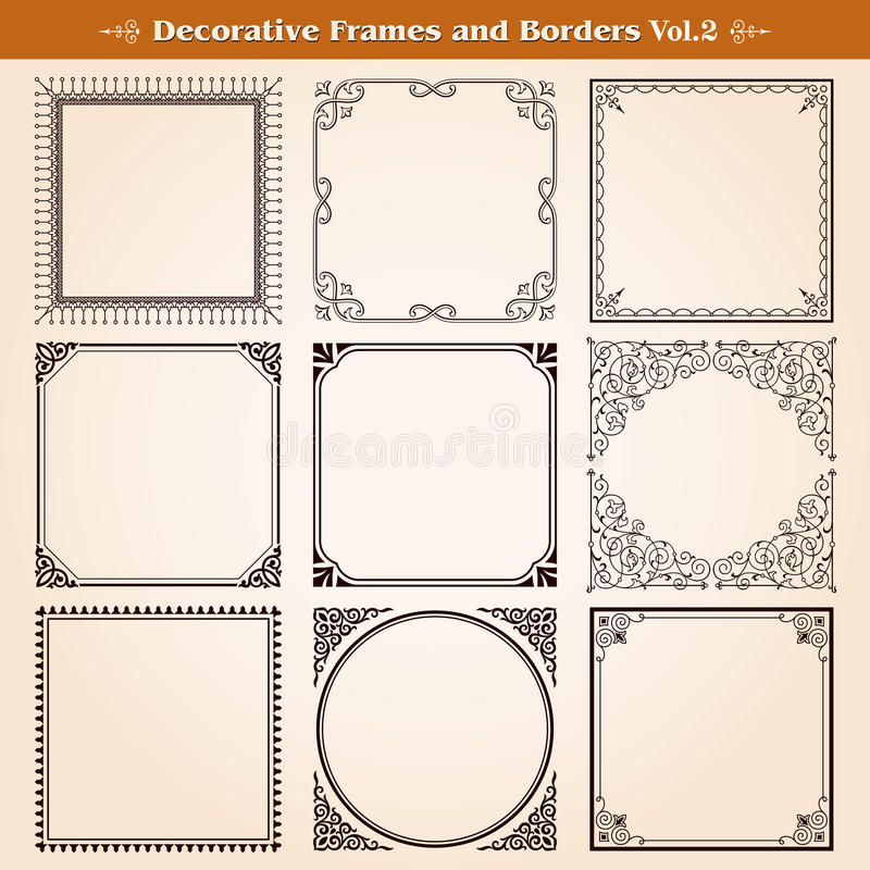 Download Decorative Frames And Borders Stock Vector - Illustration of flourish, certificate: 39508118