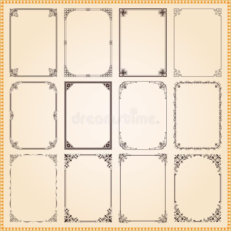 Decorative frames and borders set vector vector illustration