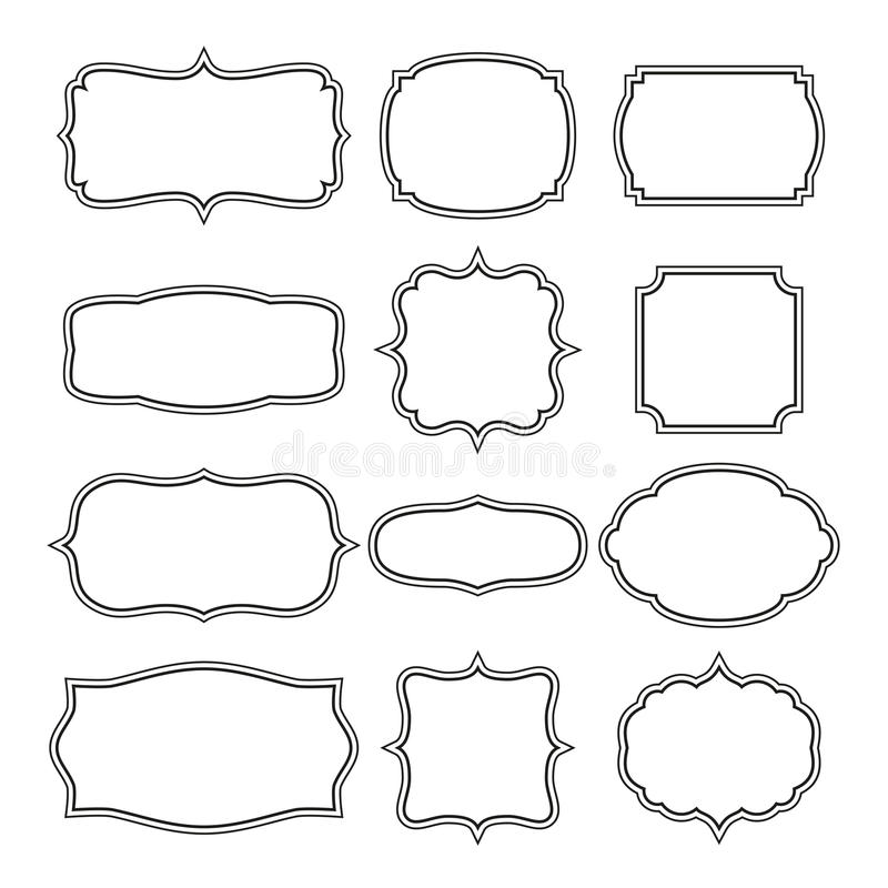 Decorative Frames. Editable EPS format vector illustration