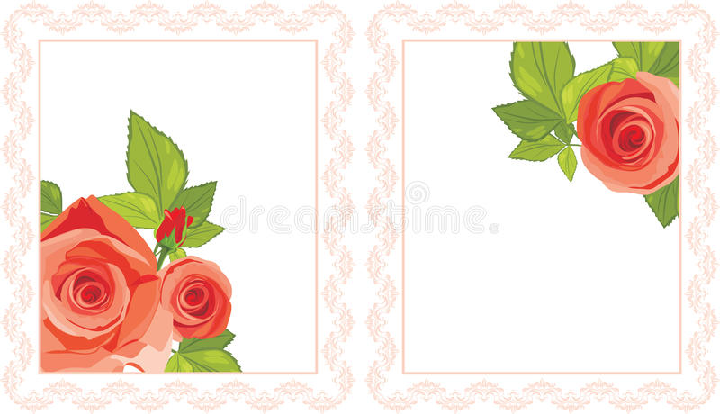 Download Decorative Frames With Red Roses Stock Photography - Image: 24743222