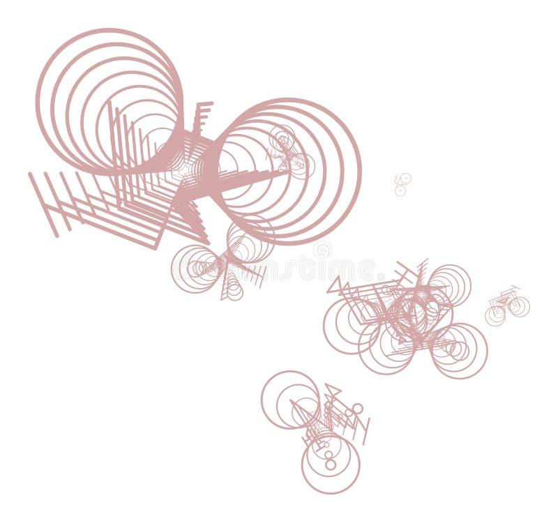 Decorative and free style pattern mutiple shapes illustrations. Creative, backdrop, drawing & art. stock illustration