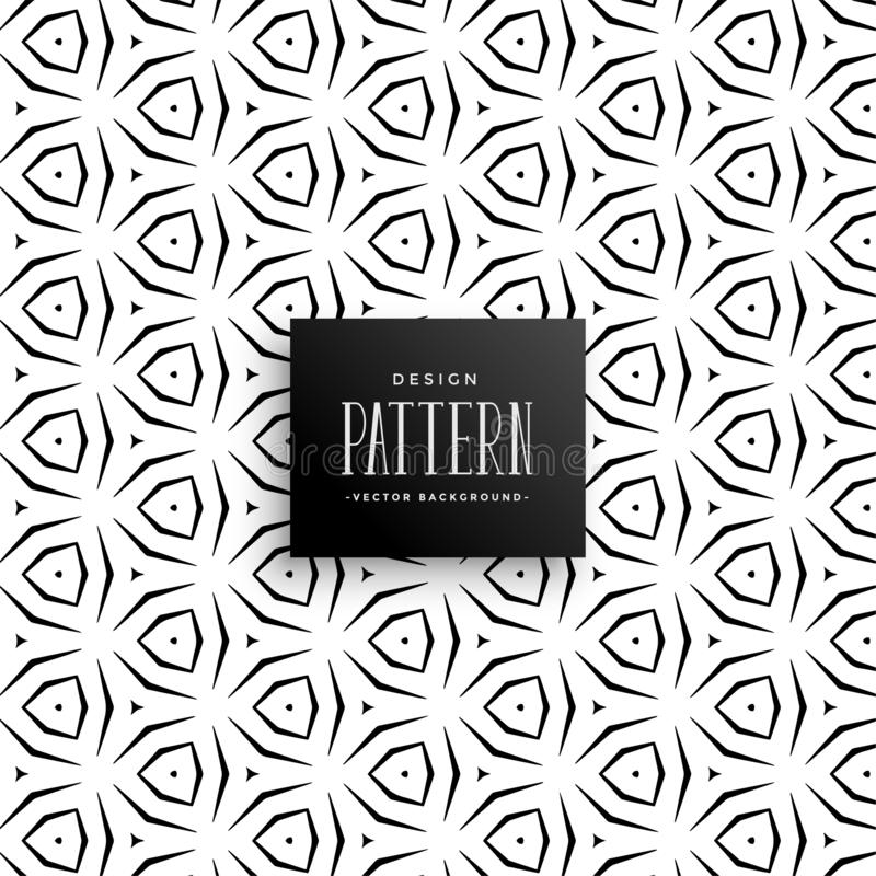 Decorative geometric abstract pattern background royalty free illustration