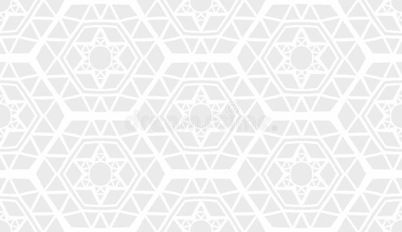 Download Decorative Geometric Modern Light Grey Pattern Stock Illustration