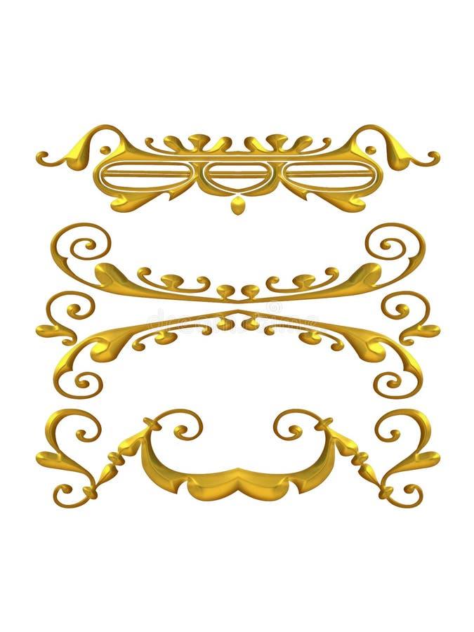 Decorative Gold Flourishes royalty free stock images