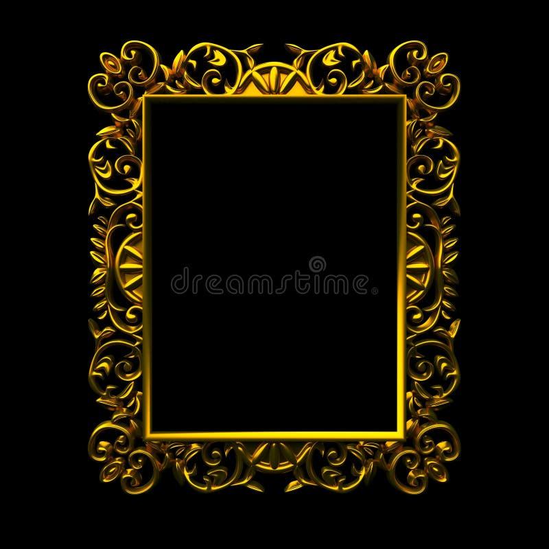 Download Decorative gold frame stock illustration. Image of antique - 21117200
