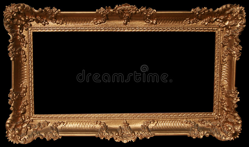 Decorative Gold Frame. Photograph of a decorative gold frame royalty free stock photography