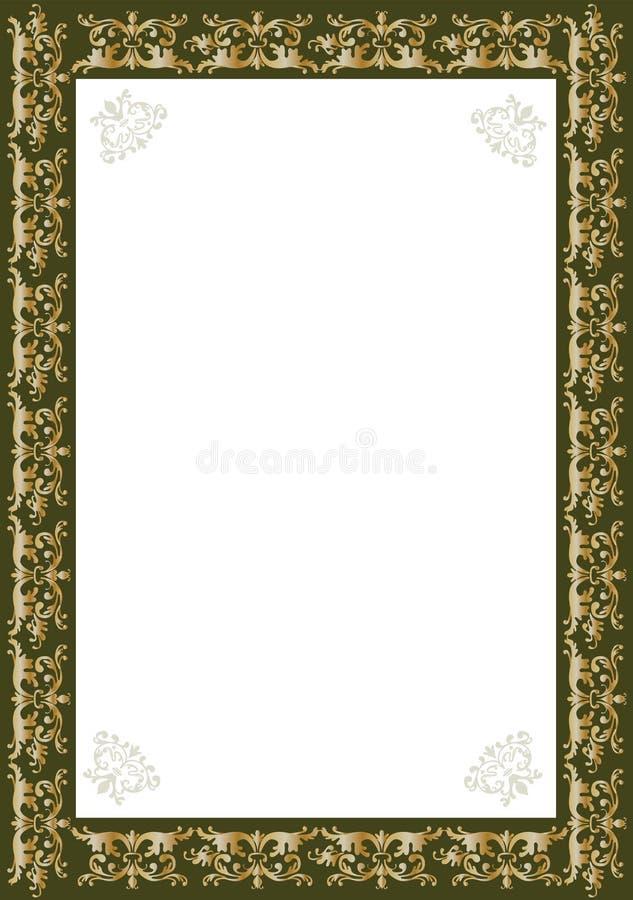 Decorative gold frame vector illustration