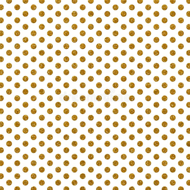 Decorative Gold Glitter Polka Dots stock illustration
