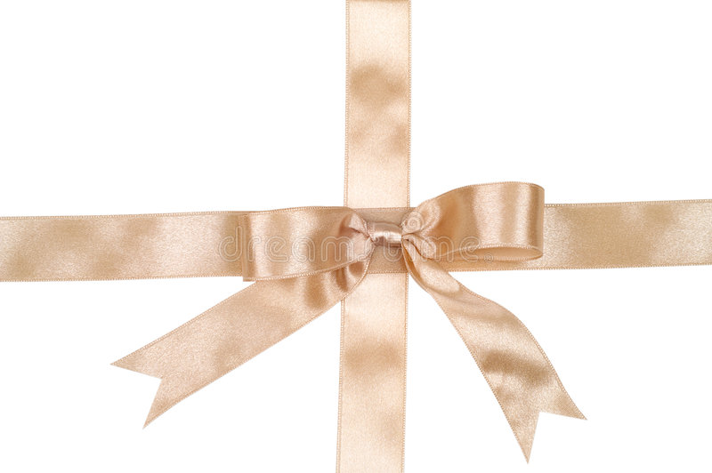Decorative gold ribbon stock photos