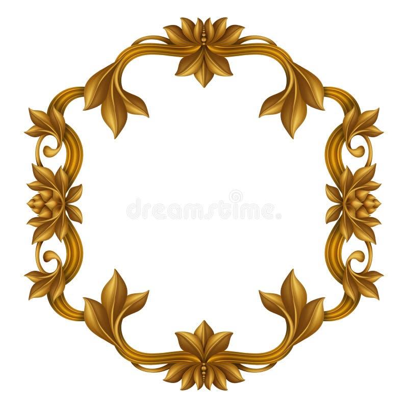 decorative gold vintage frame isolated on white background festive rh dreamstime com decorative frame clipart free decorative frame clipart free