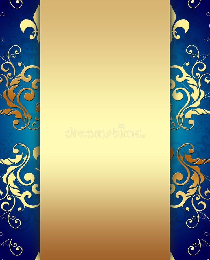 Decorative Golden Background royalty free illustration