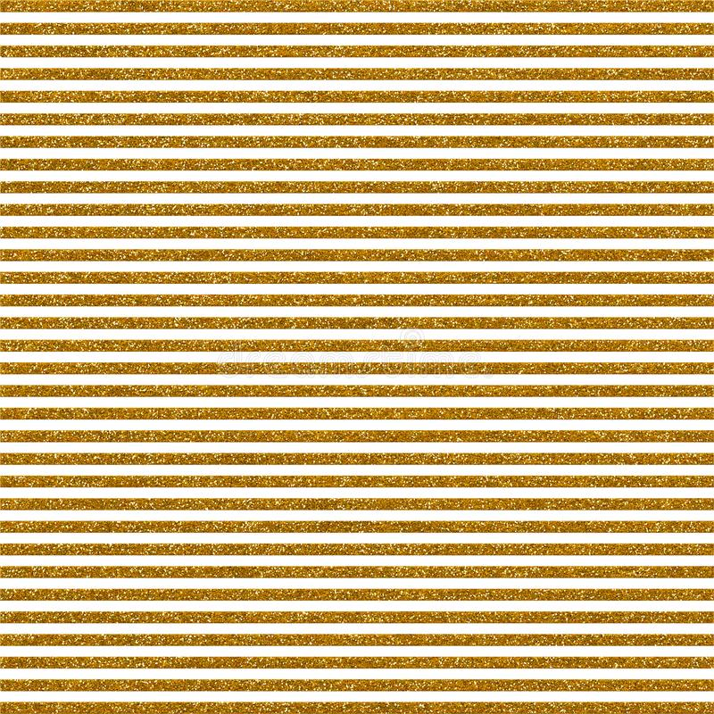 Decorative Golden Glitter Striped Paper vector illustration