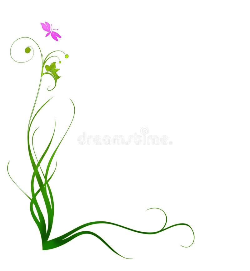 Decorative Grass Border royalty free illustration