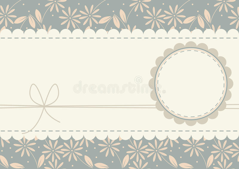 Decorative greeting card with stylish chamomile flowers vector illustration