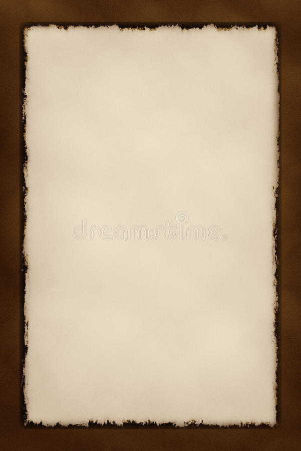 Decorative Grunge Border Series - Chocolate stock image