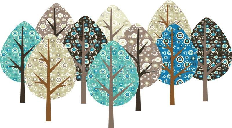 Download Decorative grunge trees stock vector. Illustration of flora - 14478294